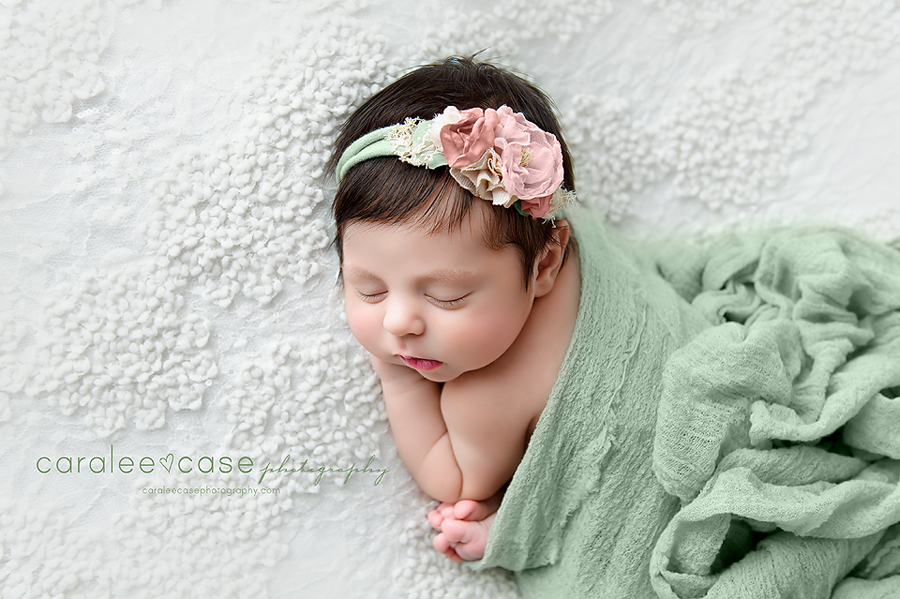 Rigby Idaho Newborn Infant Baby Posing Studio Portrait Photographer ~ Caralee Case Photography