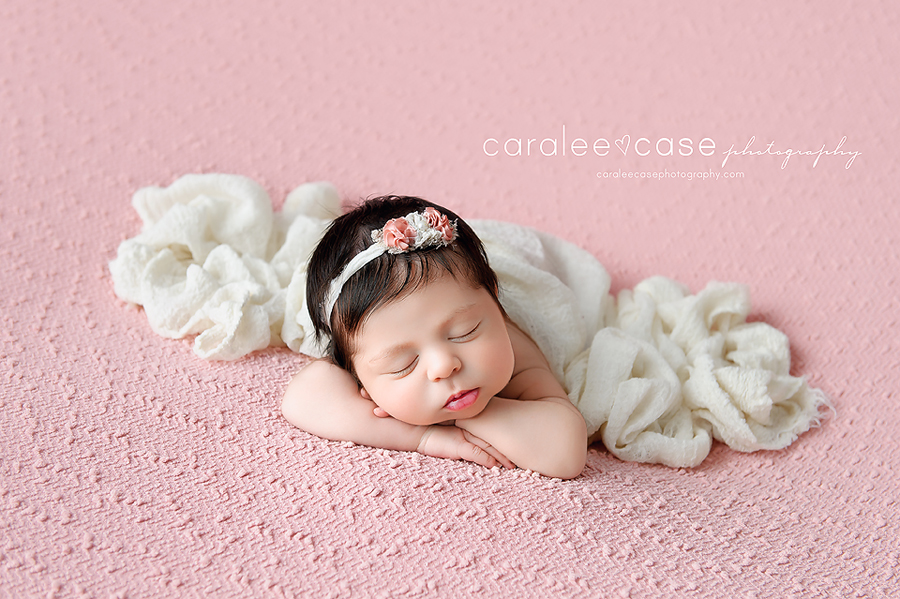 Blackfoot Idaho Newborn Infant Baby Posing Studio Portrait Photographer ~ Caralee Case Photography