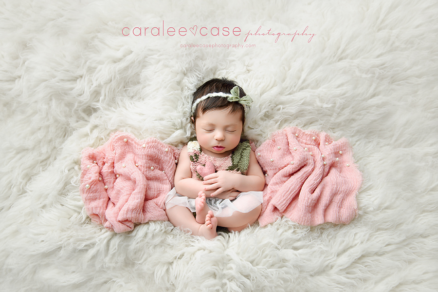 Shelley Idaho Newborn Infant Baby Posing Studio Portrait Photographer ~ Caralee Case Photography