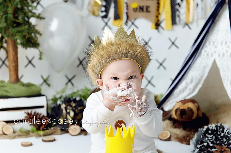 Idaho Falls, ID Baby Child Toddler 1 one year birthday cake smash photographer ~ Caralee Case Photography
