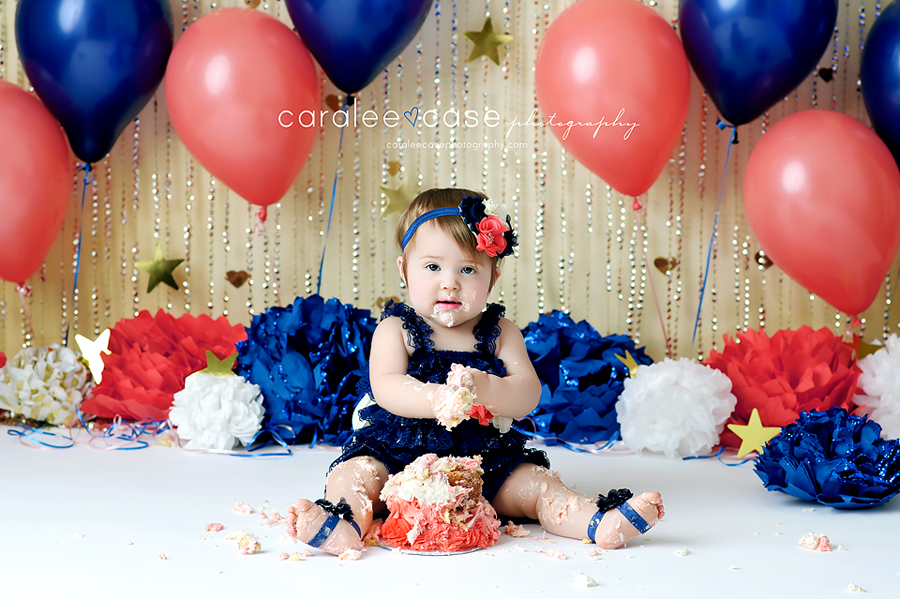 Idaho Falls, ID Baby Child Toddler Birthday Cake Smash one year Photographer ~ Caralee Case Photography